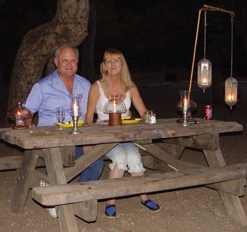 Candle Light Dinner -- Camping