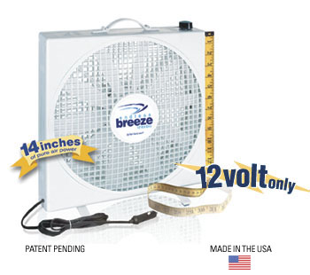Fan-Tastic Endless Breeze 12 Volt Portable Fan