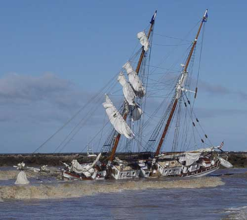 Tall Ship Grounded